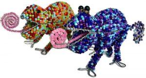 beaded chameleon