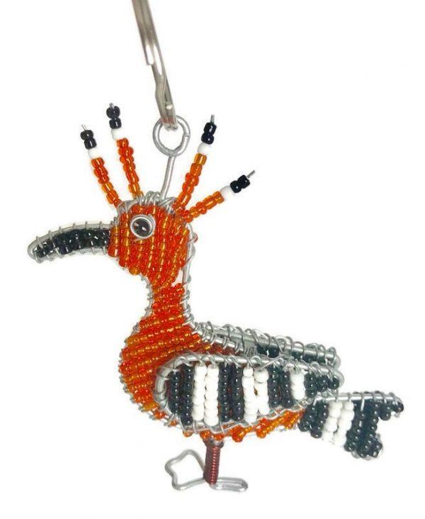 hoopoe bird key chain, hoopoe bird keychain, hoopoe keyring, hoopoe bird keyring