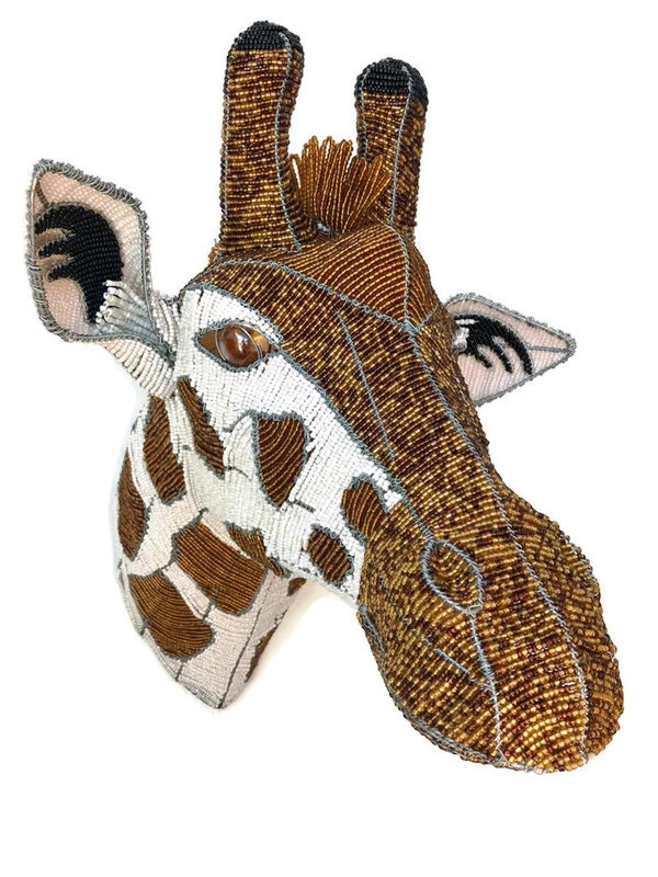 giraffe trophy head